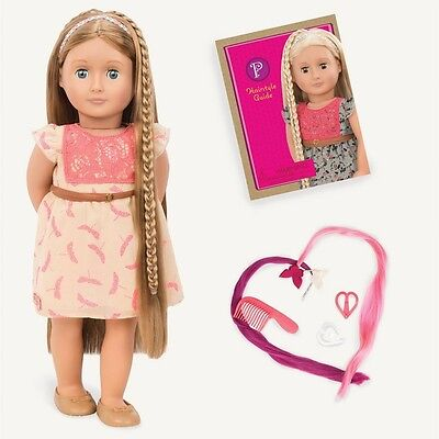 New Our Generation Hair Play 18 Inch Portia Doll With Cute Outfit & Book