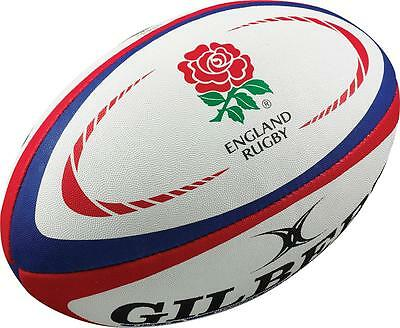 Gilbert Rugby Sports Playing Hand Stitched Standard Grip England Replica Ball