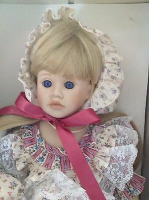 """Pauline Bjonness-Jacobsen Porcelain Doll """"Marianne""""  NIB With Matching Dolly"""