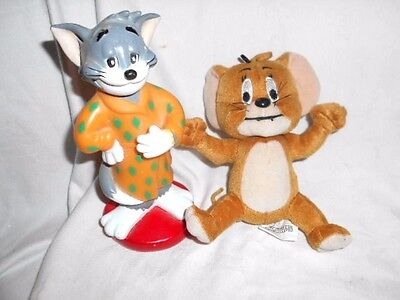 Tom & Jerry - Soft Toy Jerry and hard plastic Tom characters
