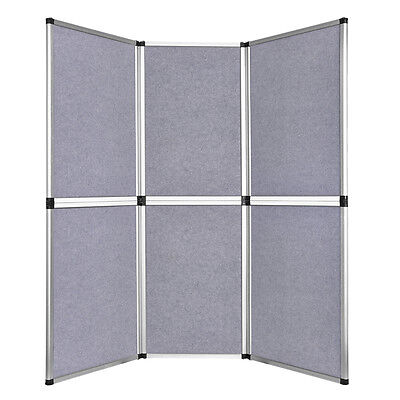 6' Folding 6 Panel Grey Trade Show Display Booth Backdrop Triangle Tower Banner