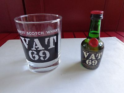 VAT 69 Glass and Miniature