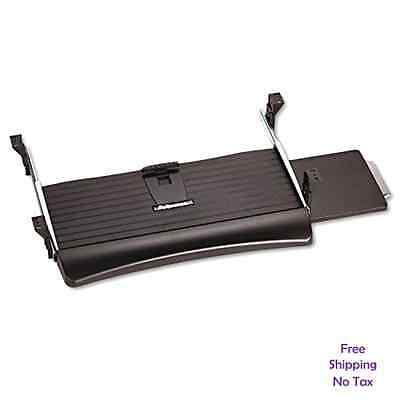 """23.5"""" Home Office Adjustable Underdesk Keyboard Drawer Tray With Mouse Platform"""