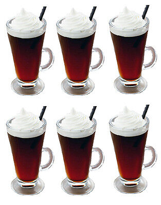 LARGE / TALL LATTE TEA COFFEE CUP MUG SET of 6