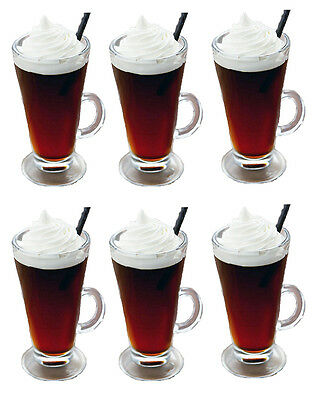 -box of 6- LATTE tall coffee glasses 260ml LOWEST PRICE EVER!!!!