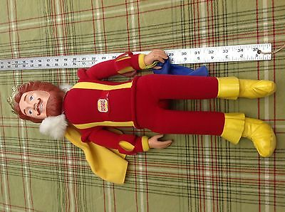 "Knickerbocker Burger King vintage doll The Magical 20"" plush 1980 scarf trick"