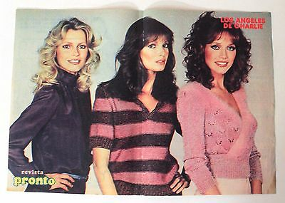 1978 Pronto mag CHARLIE'S ANGELS vintage Spanish poster Smith, Fawcett & Jackson