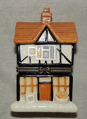 Regency Fine Arts porcelain house trinket box