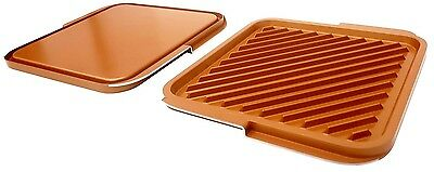 "Gotham Steel 12"" Non-Stick Reversible Grill Pan & Griddle"