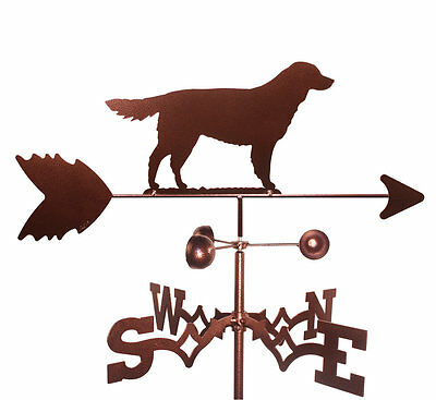 SWEN Products Golden Retriever Dog Weathervane with Flat Mount
