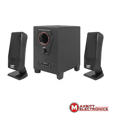 High Quality Compact 2.1 Speaker System Laptop Pc  Clean Surround Sound