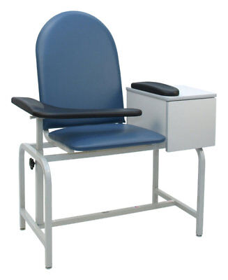 Winco Manufacturing Padded Blood Drawing Chair with Drawer Blue Ridge Standard