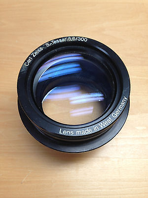 VTG Antique Carl Zeiss S-Tessar 300mm 5.6 Lens Head USED West Germany
