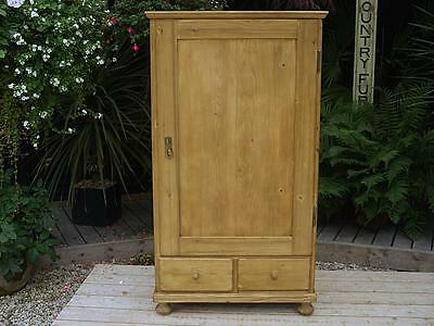 Lovely! Old Antique Pine Cupboard/child's Wardrobe/food/larder/linen/tv Cabinet