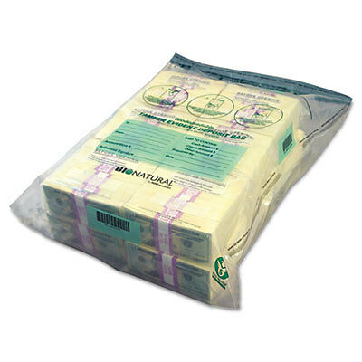 Twin Deposit Cash Bags, 9-1/2 x 15, Clear, 100/Pack 234400120