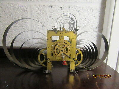 "Upcycled Steam Punk Quartz Clock In Working Order 14"" x 8"""