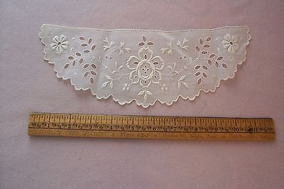 Vtg Antique Early 1900's SALESMAN SAMPLE EMBROIDERED LACE PIECE