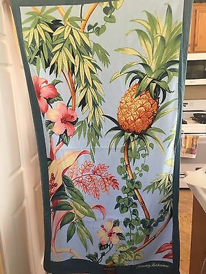 AUTHENTIC! TOMMY BAHAMA PINEAPPLE HIBISCUS Large BEACH Pool TOWEL ~NWT!