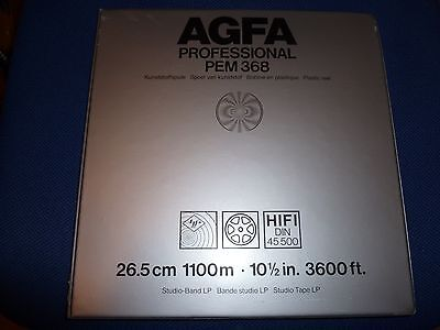 """Agfa PEM368 10.5"""" x 1/4"""" Pro reel-to-reel tape- Light home use, EX Cond"""