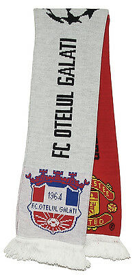 MANCHESTER UNITED v FC OTELUL GALATI  CHAMPIONS LEAGUE OFFICIAL SCARF