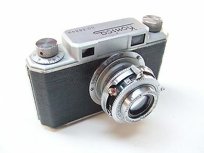 KONICA 1 RANGEFINDER CAMERA WITH f2.8 50mm HEXAR LENS. MADE IN OCCUPIED JAPAN