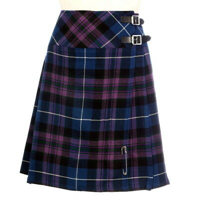 "New Ladies Pride of Scotland 20"" Knee Length Kilt Range of Tartans Size 6-28"