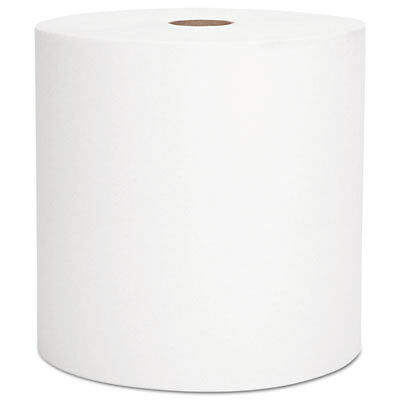 """Hard Roll Towels, 1.5"""" Core, 8 x 800 ft, White 28640"""