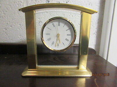 "Upcycled Traditional Quartz Clock In Working Order 7.5"" x 7"""