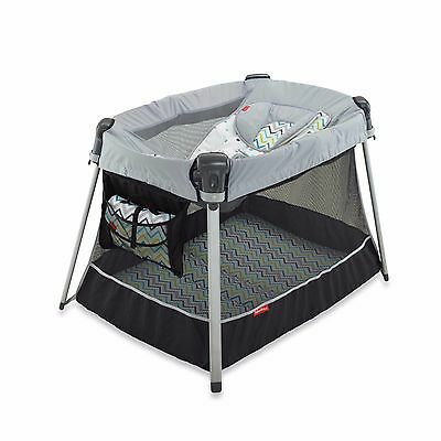 Fisher Price Ultra Lite Day and Night Playard in Chevron Fusion New See Details