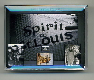 Spirit of St. Louis - Authentic piece of the actual plane in a gorgeous display!