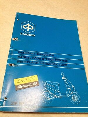 Piaggio vespa scooter Zip SP 50 Manuel atelier revue technique