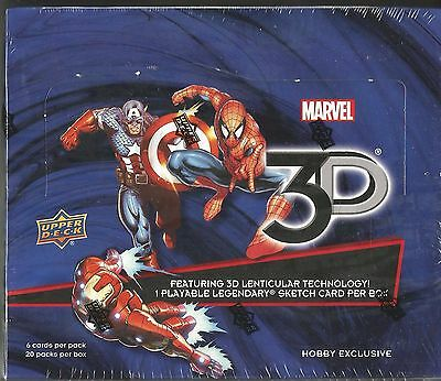 2014 (2015) Upper Deck Marvel 3D Hobby Box -1 Sketch Card Per Box