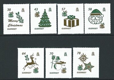 Guernsey 2016  Christmas Set Of 7 Unmounted Mint, Mnh Self Adhesive