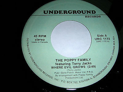THE POPPY FAMILY (feat:Terry Jacks) - WHERE EVIL GROWS / CONCRETE SEA