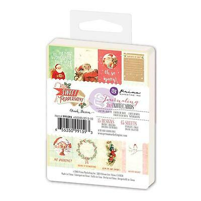 "Prima Marketing Sweet Peppermint Journaling Notecards 3""X4"" 45/Pkg Notizkarten"
