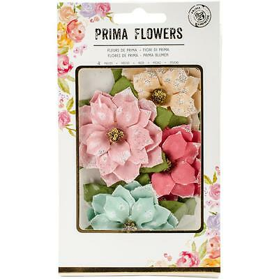 "Prima Marketing Sweet Peppermint Flowers First Snowfall 2.5"" Papier Blüten"