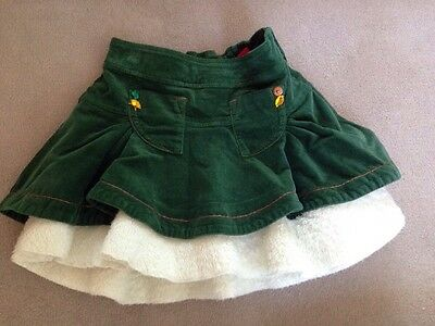 Miss Sixty Girls Age 8 Skirt Chord Faux Fur Lined Skirt