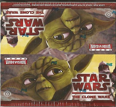 2009 Topps Star Wars Clone Wars Widevision Hobby Box -1 Sketch Card Per Box