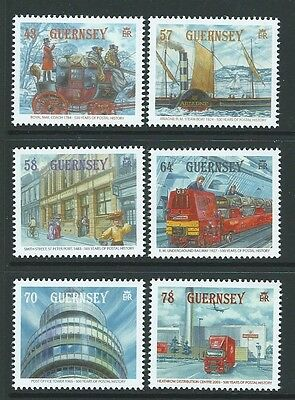 Guernsey 2016 500 Years Of Postal History Set Of 6 Unmounted Mint, Mnh