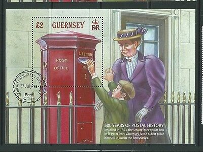Guernsey 2016 500 Years Of Postal History Miniature Sheet Fine Used