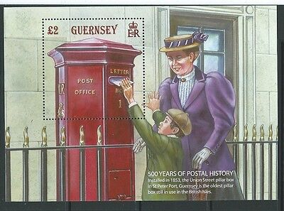 Guernsey 2016 500 Years Of Postal History Miniature Sheet Unmounted Mint