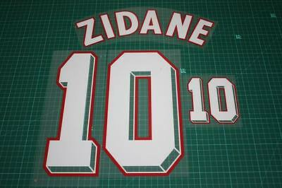 France 98/00 #10 ZIDANE Homekit Nameset Printing