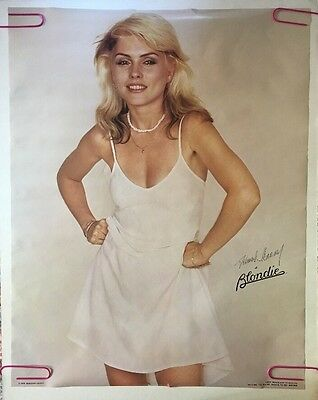 Blondie Vintage Poster Deborah Harry Pin-up 1970's Music Memorabilia Headshop