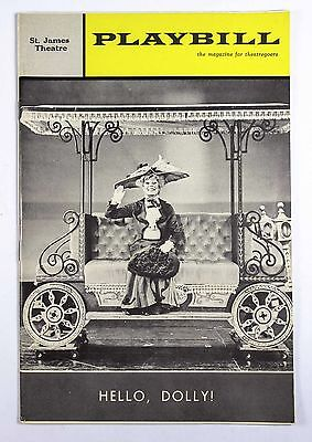 Vintage June 1965 St. James Theatre Playbill Program Hello, Dolly! Musical Play