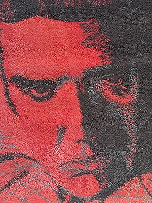 Andy Warhol Red Elvis Presley Rug Carpet Art Line Limited Edition Mint Boxed