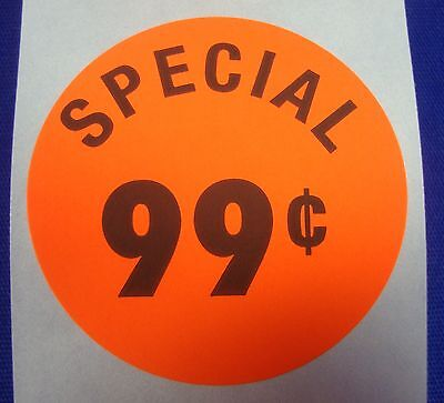 "1000 Self-Adhesive Special 99¢ Labels 1 3/8"" Stickers Retail Supplies"
