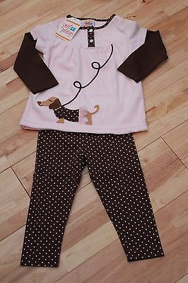 New Girls Sweet potatoes dog 2 piece outfit set age 4