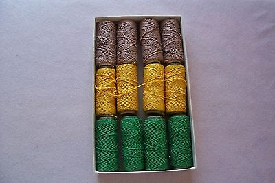 Vtg Vat Dyed LOOPING Chain Cotton Thread Sewing Crocheting Buttons