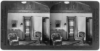 Grand Canyon Lodge: Interior of De Luxe Cabin,Arizona,AZ,c1929,chest of drawers