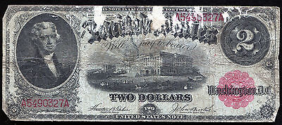 Fr. 57 1917 $2 Two Dollars Red Seal Legal Tender United States Note